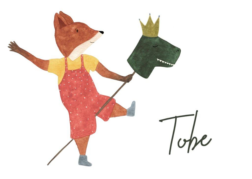 Geboortekaart Tobe (voorkant)